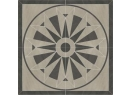 Arkesia rozeta 90x90 - GRYS